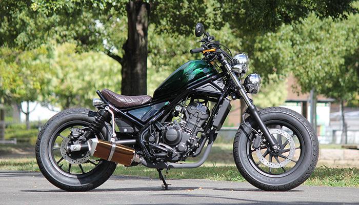 Customized HONDA REBEL Motorcycles by GOODS Custom Parts