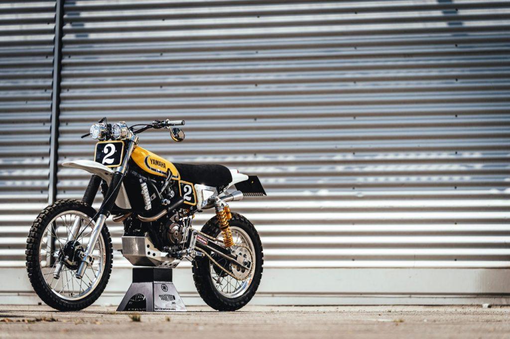 "YARD BUILT: An Eye-Catching Retro Dirt Bike, XSR700 ""Alan"" by Lamb Engineering"