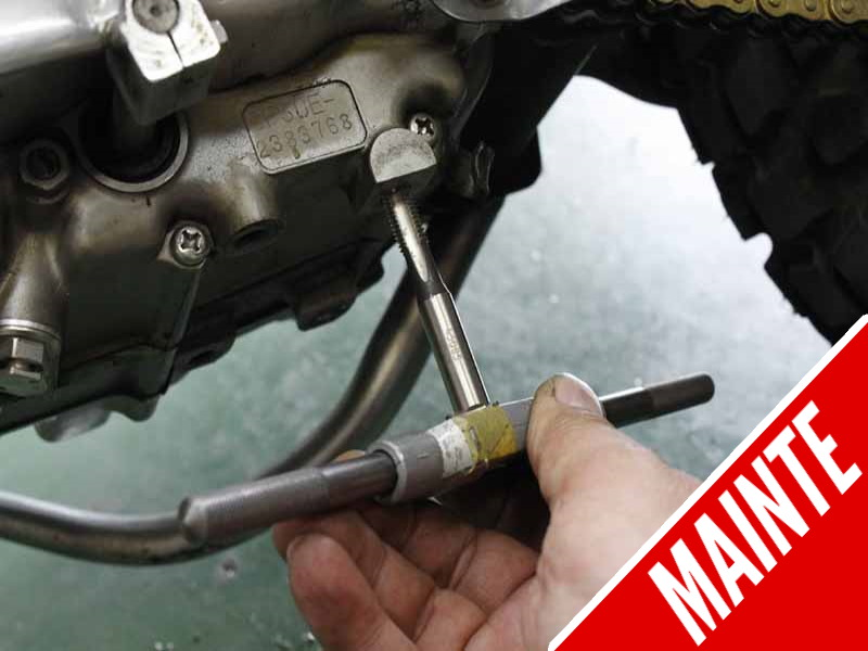 How to Recoil a Damage Footpeg Mount Thread as a Permanent Countermeasure?